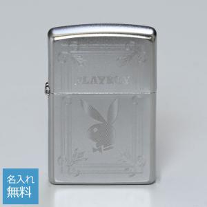 ZIPPO ジッポー ライター 名入れ無料 PLAY BOY プレイボーイ シルバー 49006 メ...