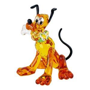 スワロフスキー クリスタルフィギュア PLUTO プルート Disney ディズニー 犬 オブジェ 置物 5301577|alevelshop