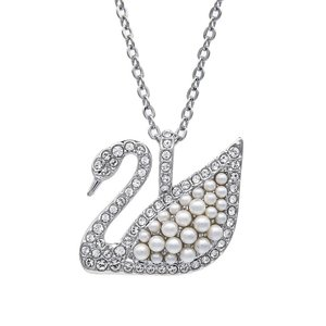 スワロフスキー ネックレス レディース Iconic Swan アイコニックスワン 2cm クリスタ...