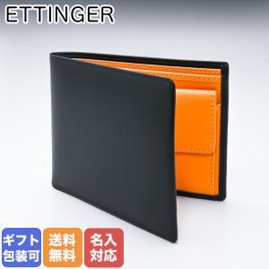 ff67290ed432 エッティンガー ETTINGER 財布 メンズ 二つ折り財布 ブライドルレザー BH141JR BLACK ブラック