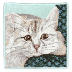 メール便可250円 日本未発売 フェイラー ハンカチ ハンドタオル タオルハンカチ 25cm ホワイトキャット 白猫 シロネコ|alevelshop