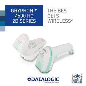 データロジック GRYPHON GBT4500-HC-BTK1 抗菌・消毒剤対応2次元ガンタイプスキャナ<ヘルスケアモデル>|alf