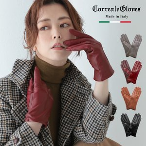Correalegloves/コレアーレグローブス スマホ対応 羊革 革手袋 レディース 裏地 カシミア100% [全4色/3サイズ] [CRL0110]|alg-select