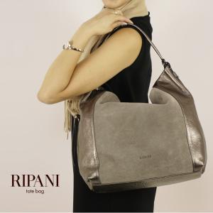 ワンショルダーバッグ レディース レザー 大きめ A4対応 RIPANI イタリア製 本革バッグ スエード 女性 通勤 プレゼント alg-select