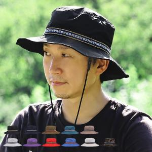 アドベンチャーハット メンズ レディース 撥水 あご紐付き 全11色 FREEサイズ 58cm UVカット 帽子 アウトドア alg-select