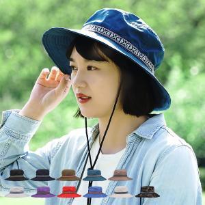 アドベンチャーハット レディース 撥水 チロリアンテープ付き 男女兼用 全11色 FREEサイズ 58cm UVカット 帽子 アウトドア TYO066|alg-select