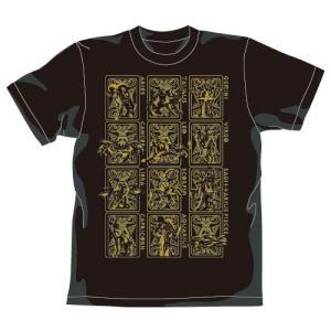 聖闘士星矢 黄金聖衣Tシャツゴールドver. BLACK XLサイズ コスパ【予約/9月末〜10月上旬】|alice-sbs-y