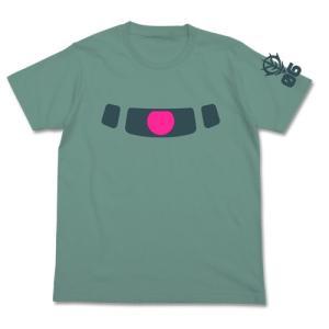 機動戦士ガンダム ザクモノアイ蓄光Tシャツ SAGE BLUE Sサイズ コスパ【予約/9月末〜10月上旬】|alice-sbs-y