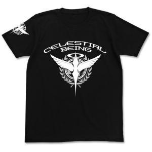 機動戦士ガンダム00 ソレスタルビーイングTシャツ BLACK Sサイズ コスパ【予約/9月末〜10月上旬】|alice-sbs-y