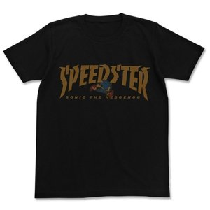 ソニック・ザ・ヘッジホッグ SPEEDSTERソニックTシャツ BLACK Sサイズ コスパ【予約/9月末〜10月上旬】|alice-sbs-y