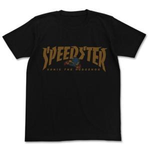 ソニック・ザ・ヘッジホッグ SPEEDSTERソニックTシャツ BLACK Lサイズ コスパ【予約/9月末〜10月上旬】|alice-sbs-y