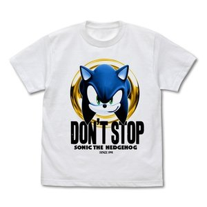 ソニック・ザ・ヘッジホッグ DON'T STOP SONIC Tシャツ WHITE Sサイズ コスパ【予約/9月末〜10月上旬】|alice-sbs-y