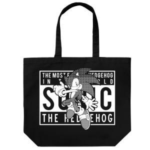 ソニック・ザ・ヘッジホッグ ストリートデザイン ラージトート BLACK コスパ【予約/9月末〜10月上旬】|alice-sbs-y