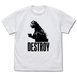 ゴジラ DESTROY Tシャツ WHITE Lサイズ コスパ【予約/9月末〜10月上旬】|alice-sbs-y