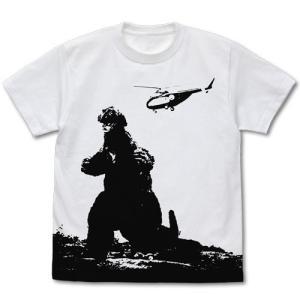 ゴジラ ゴジラ'62 オールプリントTシャツ WHITE XLサイズ コスパ【予約/9月末〜10月上旬】|alice-sbs-y