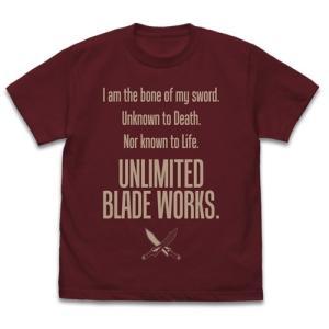 劇場版「Fate/stay night [Heaven's Feel]」 Unlimited Blade Works Tシャツ Ver.2.0 BURGUNDY Mサイズ コスパ【予約/10月末〜11月上旬】|alice-sbs-y