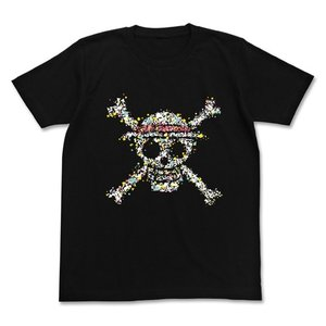 ワンピース 麦わらドクログラフィックTシャツ BLACK XLサイズ コスパ【予約/8月末〜9月上旬】|alice-sbs-y