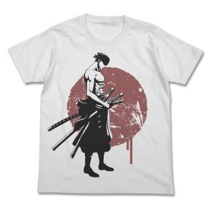 ワンピース 剣士ゾロTシャツ WHITE Lサイズ コスパ【予約/8月末〜9月上旬】|alice-sbs-y