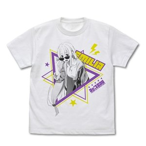 Re:ゼロから始める異世界生活 エミリア Tシャツ ストリートファッションVer. WHITE Mサイズ コスパ【予約/8月末〜9月上旬】|alice-sbs-y