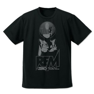 Re:ゼロから始める異世界生活 レム ドライTシャツ BLACK Sサイズ コスパ【予約/10月末〜11月上旬】|alice-sbs-y