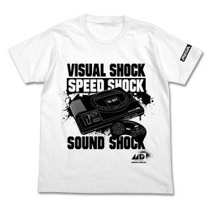 メガドライブ 3SHOCK Tシャツ WHITE Mサイズ コスパ【予約/8月末〜9月上旬】 alice-sbs-y
