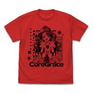 ヒーリングっど プリキュア キュアグレース Tシャツ RED Mサイズ コスパ【予約/10月末〜11月上旬】|alice-sbs-y