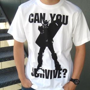 機動戦士ガンダム can you survive? Tシャツ WHITE XLサイズ コスパ【予約/11月末〜12月上旬】 alice-sbs-y