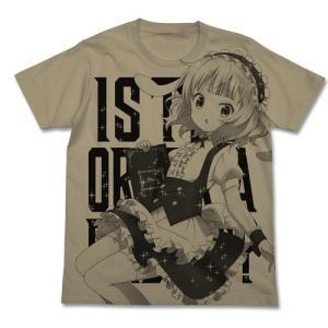 ご注文はうさぎですか? シャロ オールプリントTシャツ SAND KHAKI Sサイズ コスパ【予約/8月末〜9月上旬】|alice-sbs-y