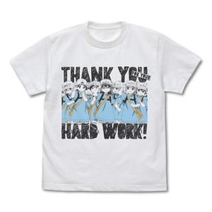はたらく細胞 血小板のおつかれさまです Tシャツ WHITE XLサイズ コスパ【予約/2月末〜3月上旬】|alice-sbs-y