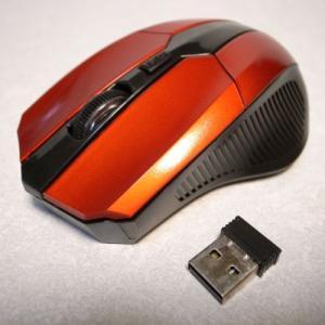 ワイヤレス オプティカルマウス 新品 新品 光学式 赤 レッド 海外製 ノンブランド alice-sbs-y