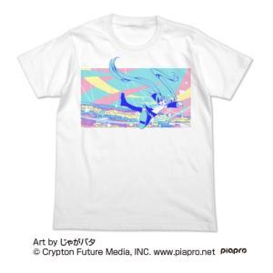 初音ミク 初音ミク フルカラーTシャツ じゃがバタVer. WHITE Lサイズ コスパ【予約/9月末〜10月上旬】|alice-sbs-y