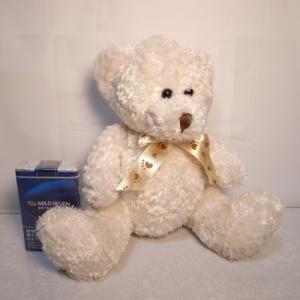 クマ ふわふわぬいぐるみ 高さ約19cm 熊 くま 動物 おもちゃ メーカー不明 xbfg36【中古】 alice-sbs-y