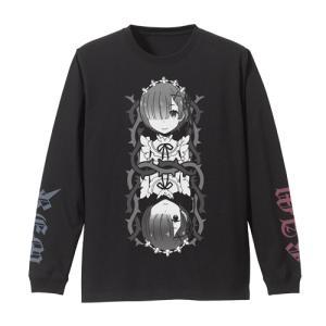 Re:ゼロから始める異世界生活 レム&ラム 袖リブロングスリーブTシャツ BLACK Lサイズ コスパ【予約/2月末〜3月上旬】|alice-sbs-y