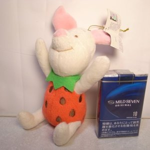 ピグレット いちごぬいぐるみ 苺 高さ約14cm ディズニー xbfp15【中古】|alice-sbs-y