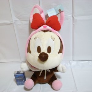 ミニーマウス ビッグサイズぬいぐるみ ウサギのフード ディズニー xbfp21【中古】|alice-sbs-y