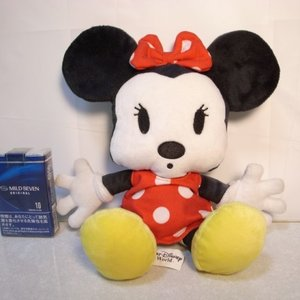 ミニーマウス ぬいぐるみ 座った状態で約20cm ディズニー xbfp22【中古】|alice-sbs-y