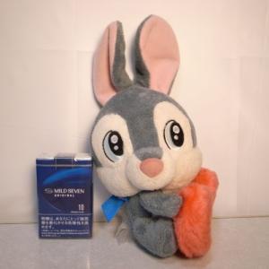 とんすけ ぬいぐるみ バンビに登場したウサギ ハートだっこ 高さ約23cm ディズニー xbfp31【中古】|alice-sbs-y