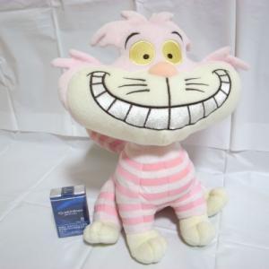 チェシャ猫 ぬいぐるみ ディズニー 高さ約33cm ディズニー xbfp32【中古】|alice-sbs-y