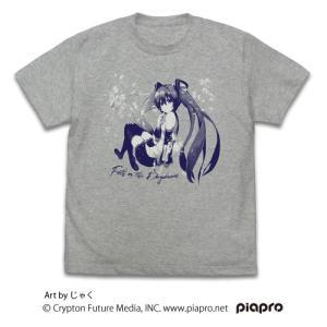 初音ミク Tシャツ じゃくVer. MIX GRAY Lサイズ コスパ【予約/10月末〜11月上旬】|alice-sbs-y