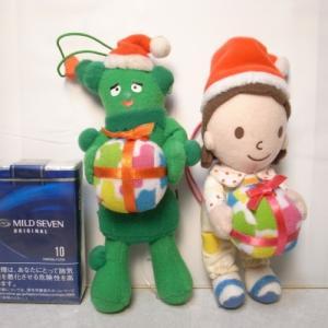 みいつけた! クリスマスぬいぐるみ 2こセット エイコー xbfs14【中古】|alice-sbs-y