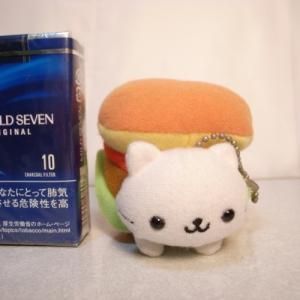 にゃんこバーガー ボールチェーン付きぬいぐるみ ハンバーガー ネコ 猫 san-x xbfs46【中古】 alice-sbs-y