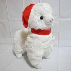 アルパカ ふわふわジャンボぬいぐるみ 約47cm クリスマスアルパカッソ アミューズ xbfs75【中古】|alice-sbs-y