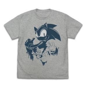 ソニック・ザ・ヘッジホッグ ソニック ウォールペイント Tシャツ MIX GRAY Lサイズ コスパ【予約/11月末〜12月上旬】|alice-sbs-y