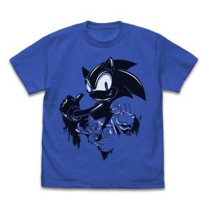ソニック・ザ・ヘッジホッグ ソニック ウォールペイント Tシャツ ROYAL BLUE XLサイズ コスパ【予約/2月末〜3月上旬】|alice-sbs-y