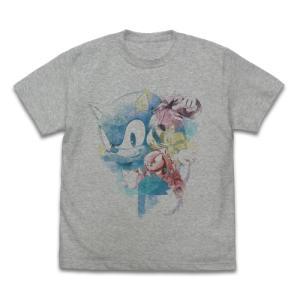 ソニック・ザ・ヘッジホッグ ソニック Fashion Pencil フルカラーTシャツ MIX GRAY Mサイズ コスパ【予約/11月末〜12月上旬】|alice-sbs-y
