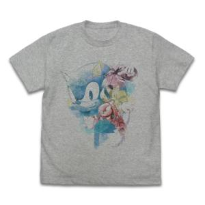 ソニック・ザ・ヘッジホッグ ソニック Fashion Pencil フルカラーTシャツ MIX GRAY XLサイズ コスパ【予約/11月末〜12月上旬】|alice-sbs-y