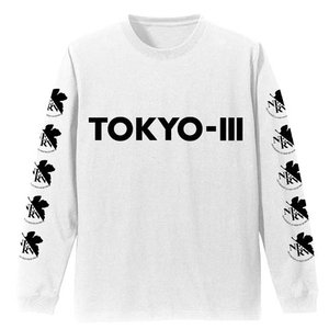 EVANGELION ネルフロゴ 袖リブロングスリーブTシャツ WHITE Sサイズ コスパ【予約/11月末〜12月上旬】|alice-sbs-y