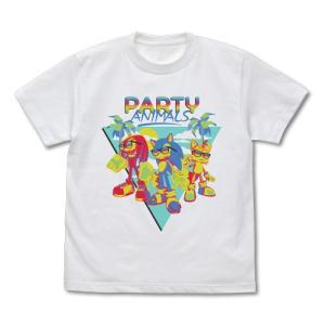 ソニック・ザ・ヘッジホッグ ソニック PARTY ANIMALS フルカラーTシャツ WHITE Sサイズ コスパ【予約/11月末〜12月上旬】|alice-sbs-y