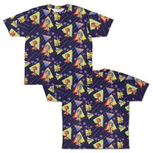 ソニック・ザ・ヘッジホッグ 総柄 両面フルグラフィックTシャツ Sサイズ コスパ【予約/12月末〜1月上旬】|alice-sbs-y