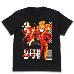 EVANGELION エヴァ2号機 アシッドグラフィックスTシャツ BLACK Mサイズ コスパ【予約/2月末〜3月上旬】|alice-sbs-y